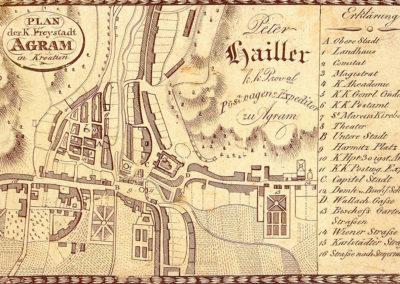 Peter-Hailler-plan-Zagreba-1825-vide-se-ilička-imanja-i-vrtovi